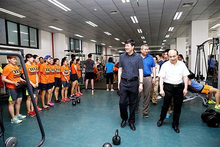 国家体育总局高志丹副局长看望在北体大...