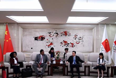 体育总局领导会见特立尼达和多巴哥客人