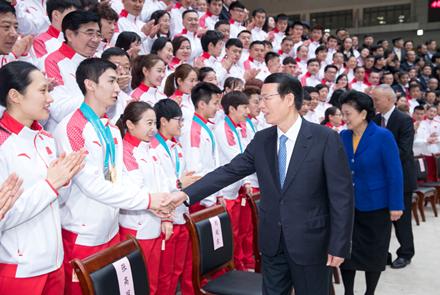 张高丽:弘扬中华体育精神和奥林匹克精...