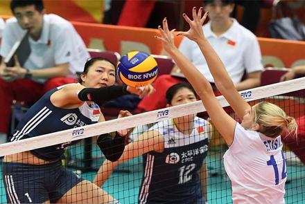 2018年女排世锦赛中国女排击败...