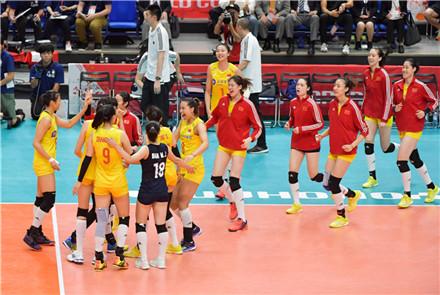 2019年女排世界杯赛中国女排收...